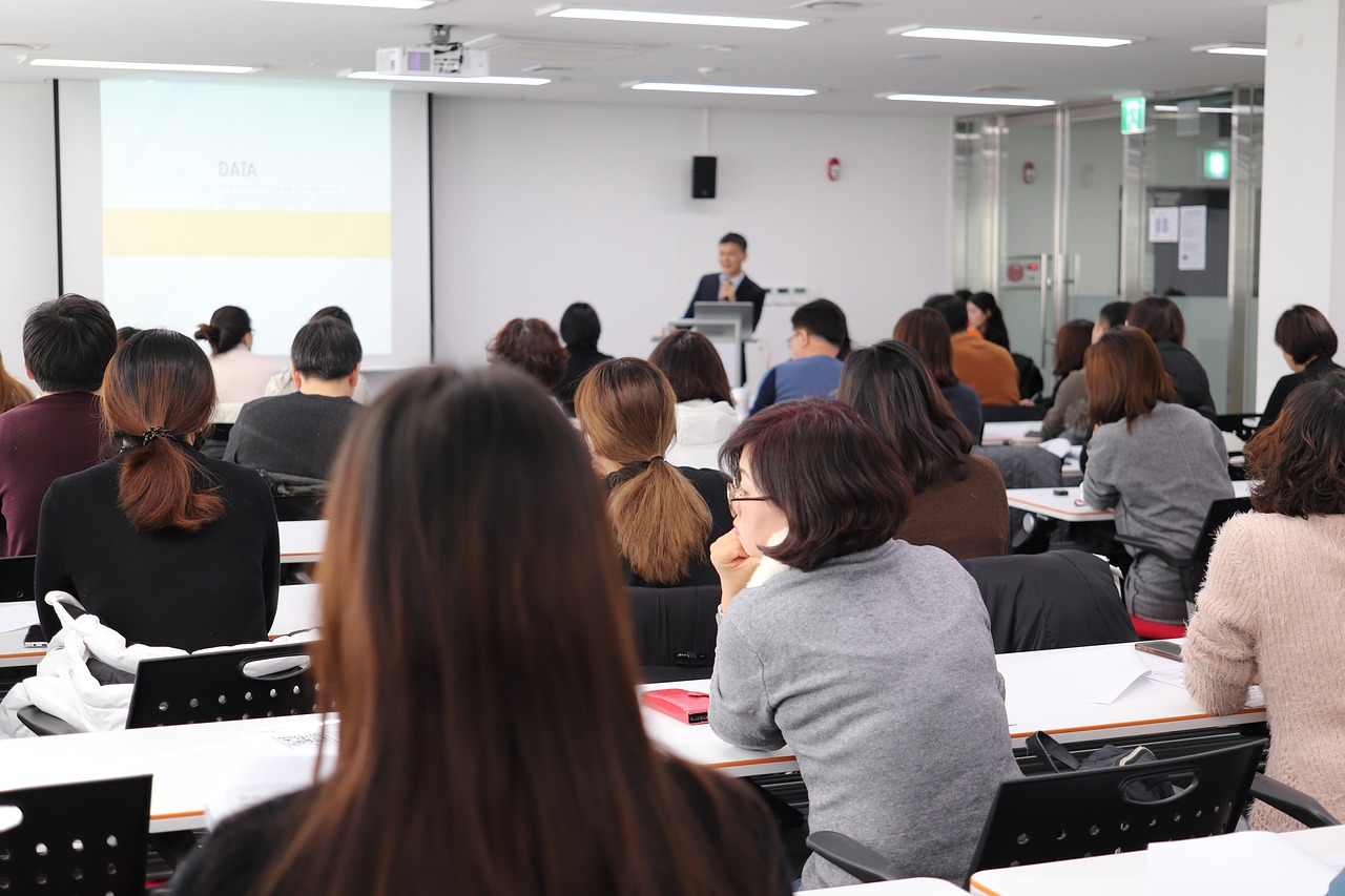 lecture, instructor, classroom